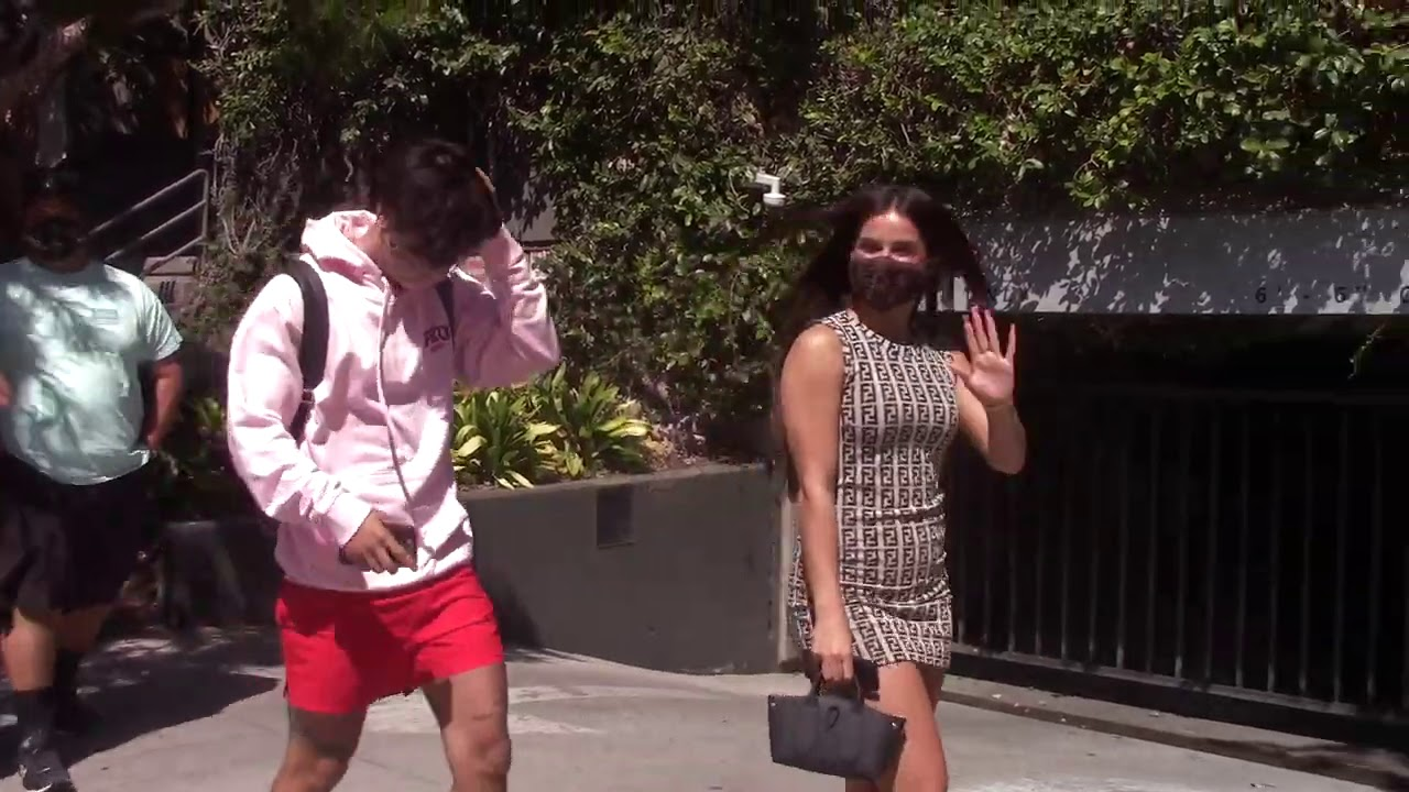 Addison Rae and Bryce Hall Arrive to a Romantic Brunch as They Take Pictures with Fans at UCLA