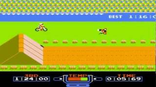 Excite bike nes gameplay perfect game World Record