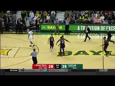 Texas Tech vs Baylor Men's Basketball Highlights