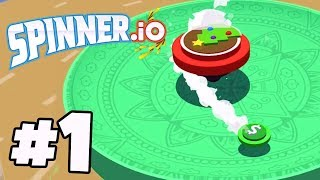 Awesome #1 Beyblade .io Game! | SPINNER.IO Gameplay Part 1 (IOS/Android App 4K)