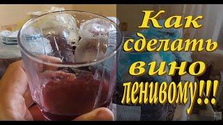 Приготовление домашнего вина - ещё один способ (очень простой!!!)