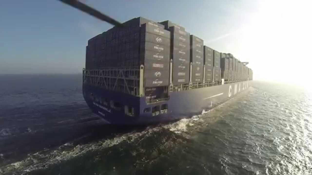 Cma cgm bouguainville le plus grand porte conteneurs - Le plus gros porte conteneur du monde ...