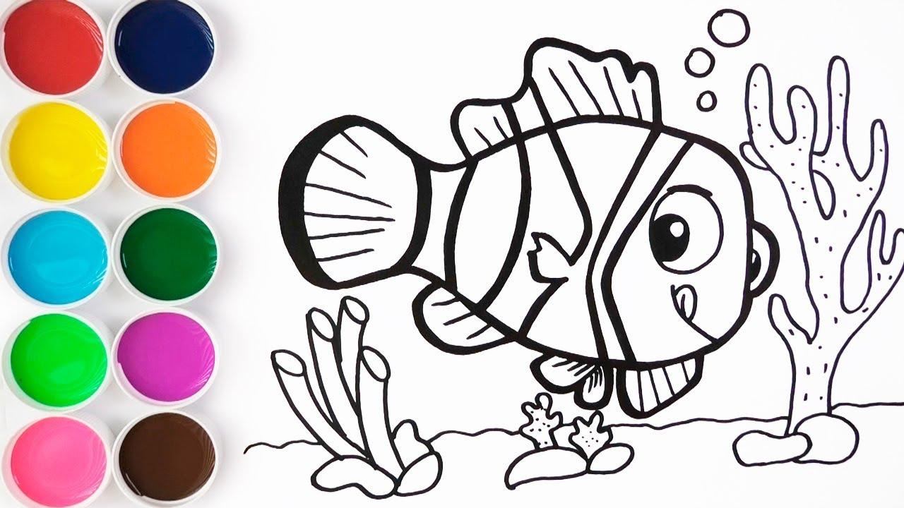 Dibujar Y Colorear Pez De Arcoiris Dibujos Para Ninos Aprende