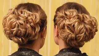 Hairstyle for medium hair - Вечерняя причёска на основе подвёрнутых хвостиков - Hairstyles by REM