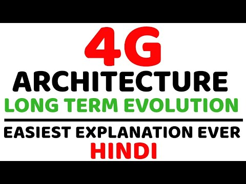4G Architecture Ll Long Term Evolution (LTE) Ll E-UTRAN, EPC, ENodeB, MME, HSS Explained In Hindi