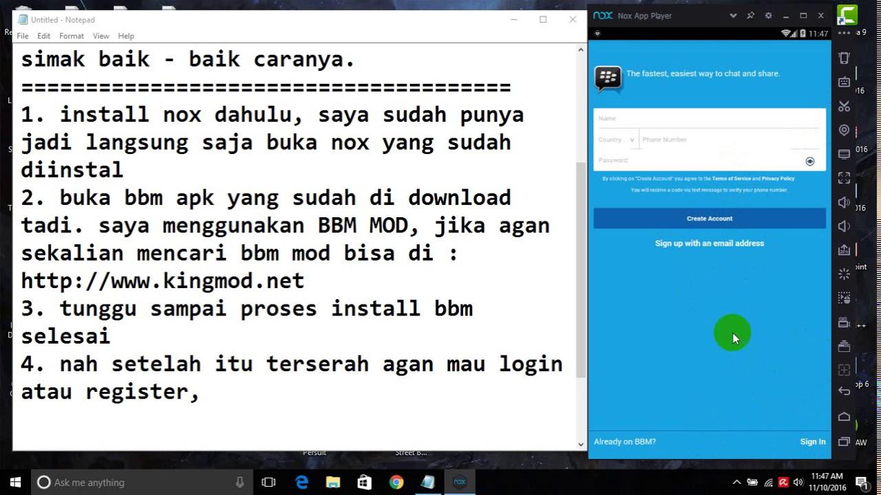 Cara Install Dan Pakai Bbm Di Laptop Pc Ringan Youtube