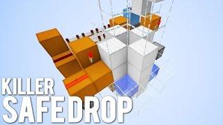 Minecraft: EVIL Safe Drop Player Trap!