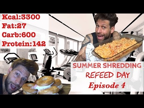 summer-shredding-episode-4---full-day-of-eating-(refeed-day)-week-4-(eng-sub)
