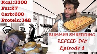 Summer Shredding Episode 4 - Full Day Of Eating (Refeed Day) WEEK 4 (ENG SUB)