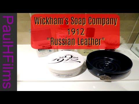 Wickham's Soap Co - Russian Leather -  Parker Variant DE Razor