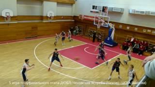 баскетбольный матч ДЮБЛ РФБ: Чеховские Ястребы (Чехов) - ЦСКА (Москва) 2 половина игры