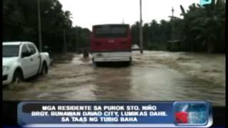 Mga residente sa Purok Sto. Niño Brgy. Bunawan Davao City, lumikas dahil sa pagtaas ng tubig baha