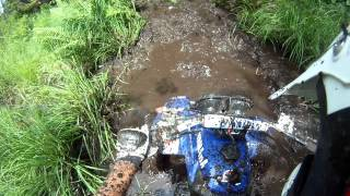 GoPro Yamaha Warrior mudding
