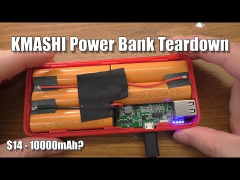 KMASHI 10000 MAh Power Bank Teardown
