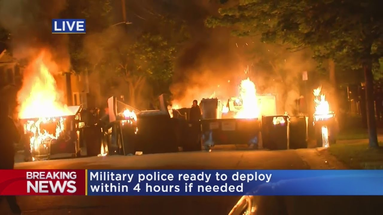 Video Shows Rioters Lining Dumpster Fires Along Residential Streets In Uptown