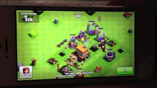 Clash of Clans TH Lvl 3-4 Attack Example