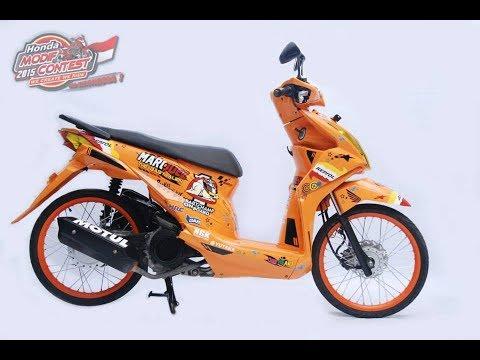 Motor Modifikasi Terkini Modifikasi Motor Beat Orange Putih