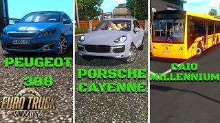 PORSCHE CAYENNE   PEUGEOT 308   CAIO MILLENNIUM - ETS 2 Mods #21