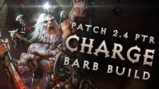 2.4 Barbarian Raekor King Charge Barb Build - Diablo 3 Reaper of Souls PTR