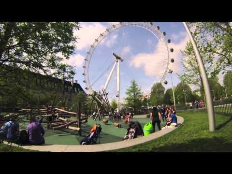 London with kids. Secret Playground near London Eye. London with toddlers. Jubilee Gardens