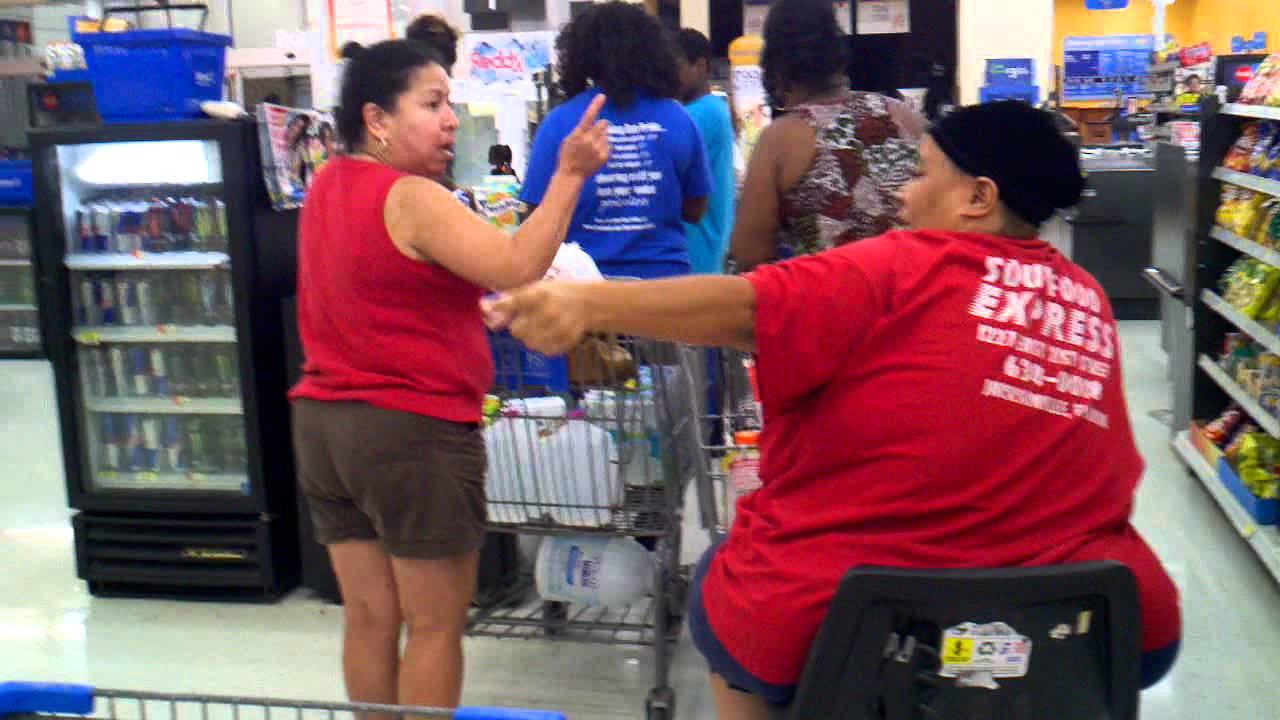 Walmart Shopping Cart Fight Youtube