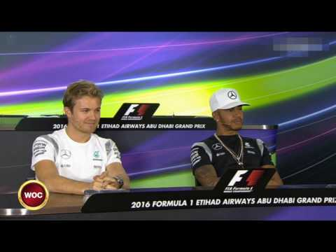 F1 - Hamilton teasing Rosberg at AbuDhabi 2016 press conference