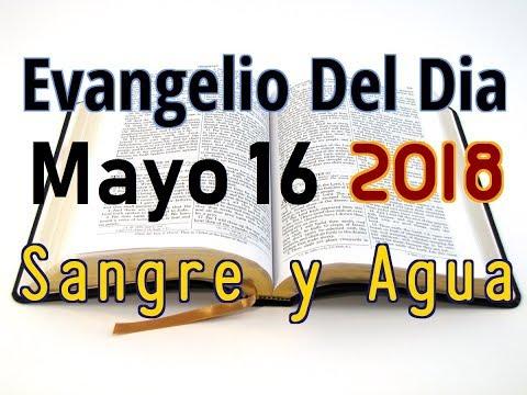 Evangelio del Dia- Miercoles 16 Mayo 2018- Lobos Rapaces- Sangre y Agua