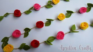 diy simple and easy flower garland || felt flower garland