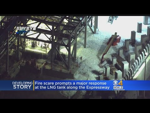 Fire Scare Prompts Major Response At LNG Tank Along Expressway