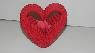 How To Make 3d Origami Heart Model2 Part1
