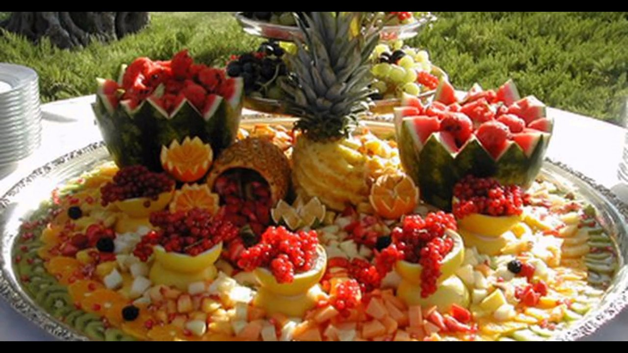 Creative fruit decorations for wedding youtube for Decoration fruit