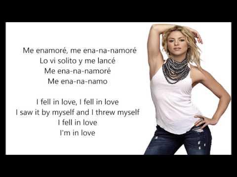 Shakira - Me Enamoré (Inglés/Español)
