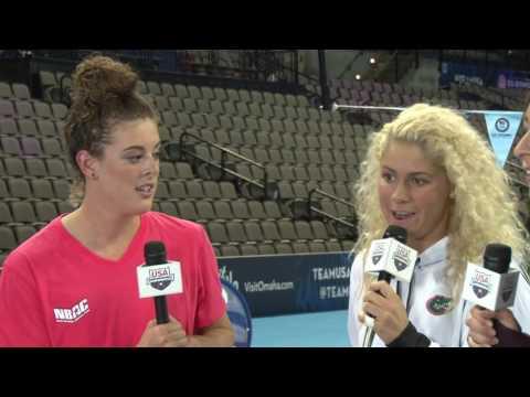 US Olympic Team Trials - Swimming #Lane9 Night 7: Allison Schmitt and Elizabeth Beisel Interview