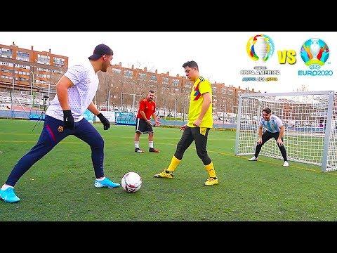 Eurocopa Vs Copa América (2020) PARTIDO De FÚTBOL