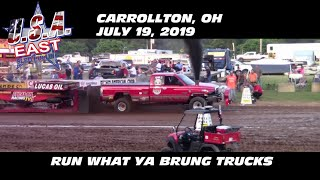 7/19/19 USA-East Carrollton, OH Run What Ya Brung Trucks