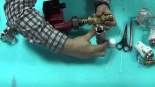 видео Смесительный узел для теплого пола своими руками