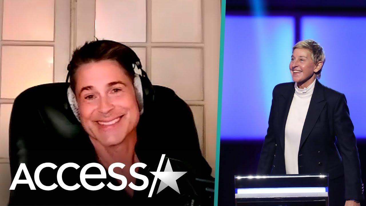 Rob Lowe Discusses Ellen DeGeneres Leaving Talk Show & Whether He'd Ever Consider Hosting Gig