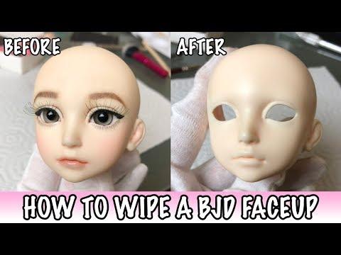 How to Remove a BJD Faceup | PeachMuffin BJD
