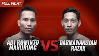 [HD] Adi Rominto Manurung vs Darmawansyah Razak || One Pride FN #31
