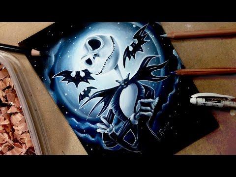 drawing-jack-skellington-🎃the-nightmare-before-christmas-halloween-themed