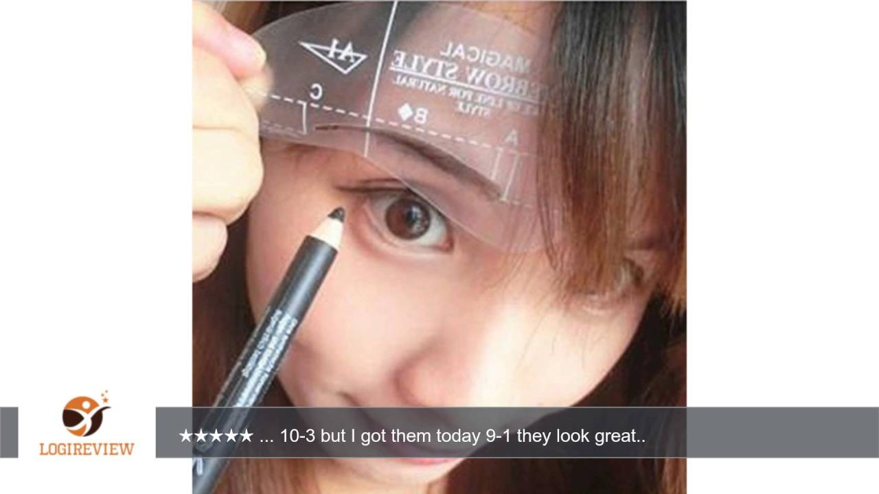 Sankuwen 24 Styles Eyebrow Shaping Stencils Grooming Kit Makeup