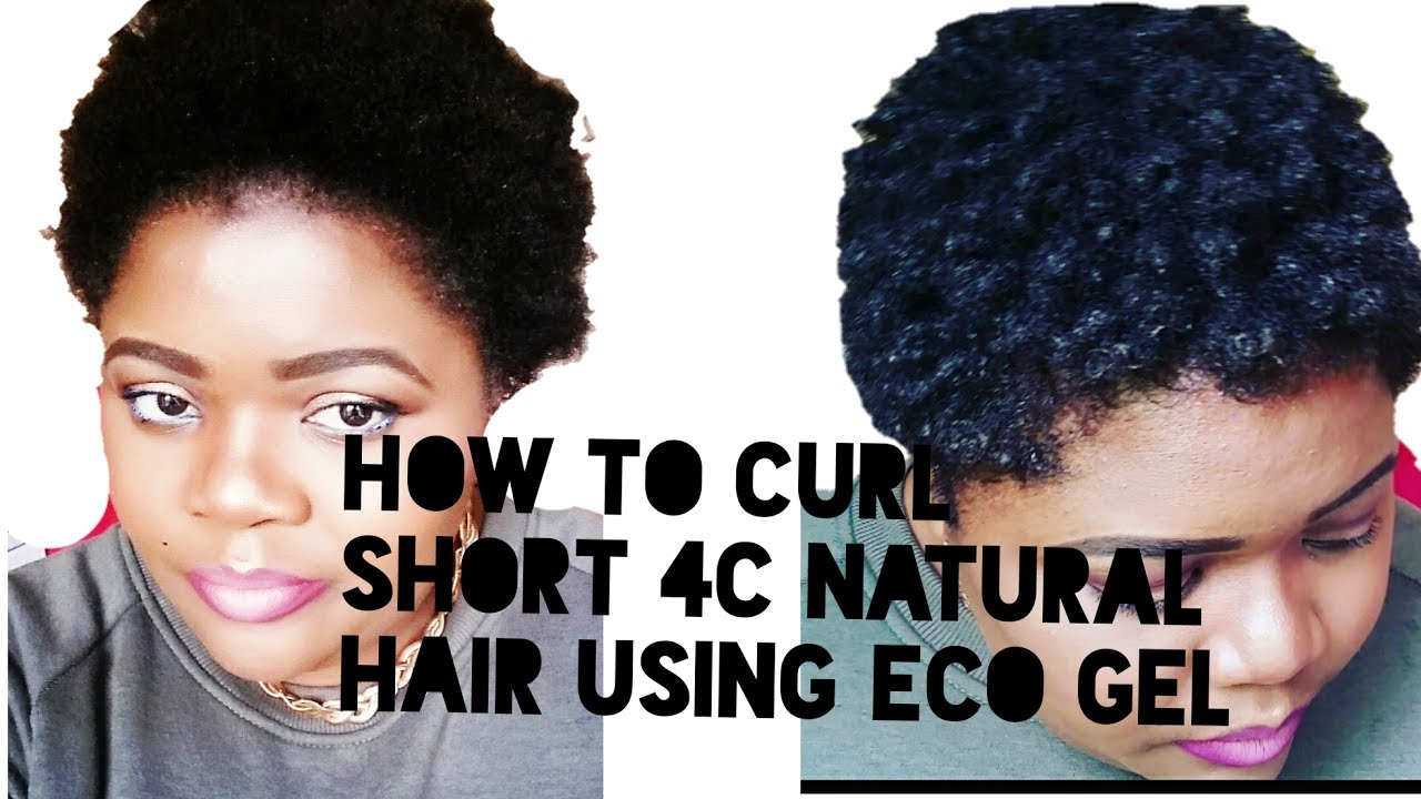 how to style short hair with gel how to curl 4c hair using eco gel 9436 | maxresdefault