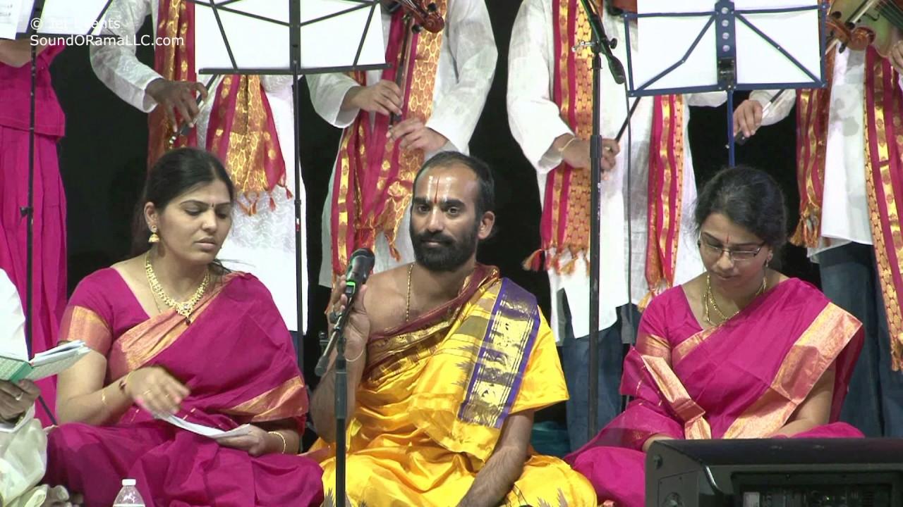 """Raganjali singers singing """" Chevulara Vinudu""""  at Sashtipoorthi Celebrations."""