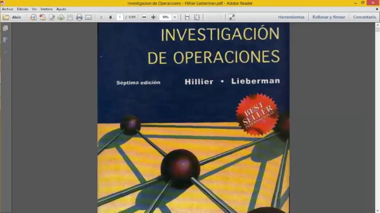 LIBROS DE INVESTIGACIÓN DE OPERACIONES