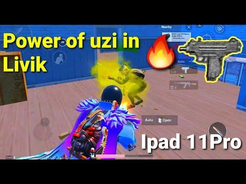 Power Of UZi In Livik   IPAD PRO 2020🔥 Rush Game Play  7 Finger + ADS   PUBG MOBILE  