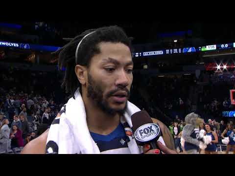 Derrick Rose Postgame Interview - Timberwolves Vs Suns | January 20, 2019 | 2018-19 NBA Season