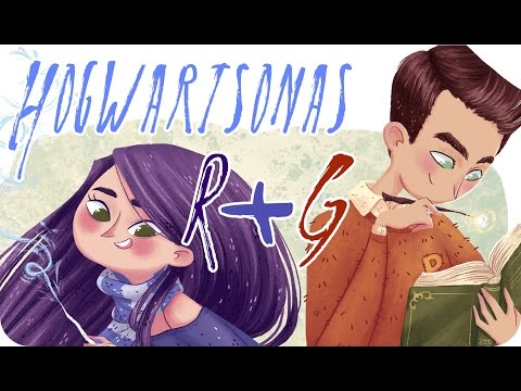 Photoshop digital illustration timelapse | Ravenclaw and Gryffindor hogwartsonas