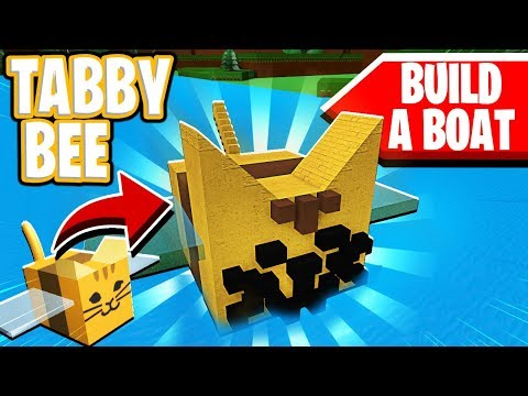 Making A Tabby Bee From Bee Swarm Simulator On Build A Boat For
