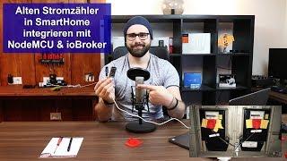 [Stromzähler (Ferraris)] SmartHome Zähler für 10€ mit ioBroker und NodeMCU [Tutorial] [HD]
