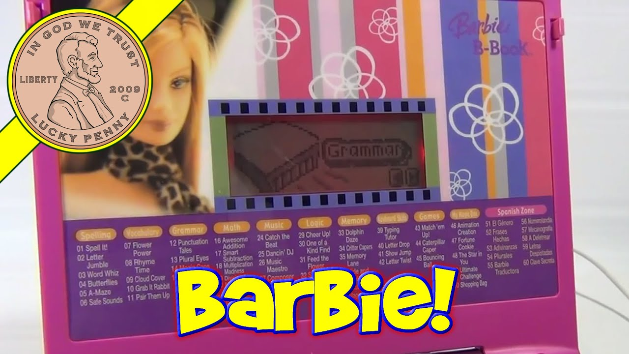 Barbie B Book Learning Laptop Computer Education Toy Ver